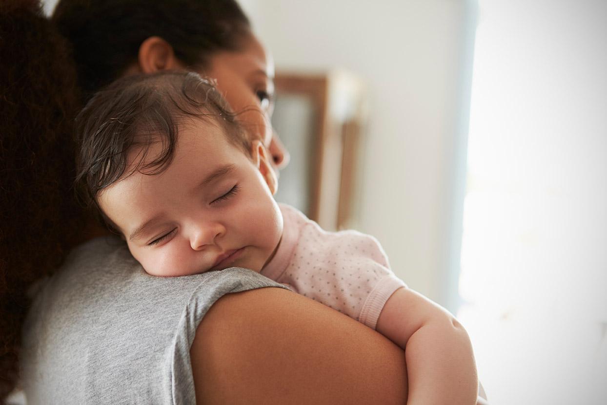 Infant and caregiver