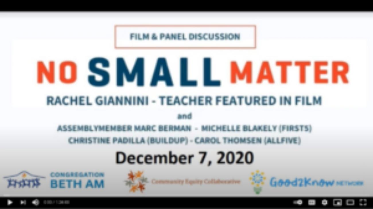 Panel de película No Small Matter