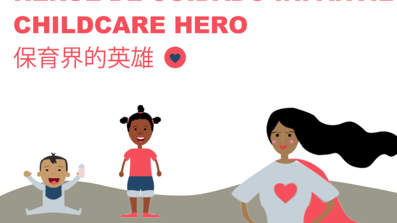 Child Care Hero Decal Social Media